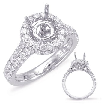 White Gold Halo Engagement Ring