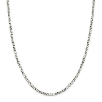 Sterling Silver Polished 3.15mm Curb Chain