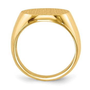 14k 15.0x15.5mm Open Back Signet Ring