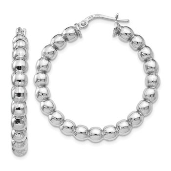 Leslie's Sterling Silver Polished Hinged Hoop Earrings