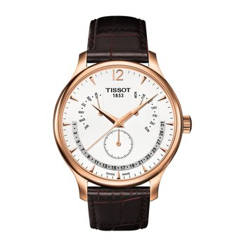 Tradition Rose Gold PVD Men's Perpetual Calendar Classic Quartz Watch