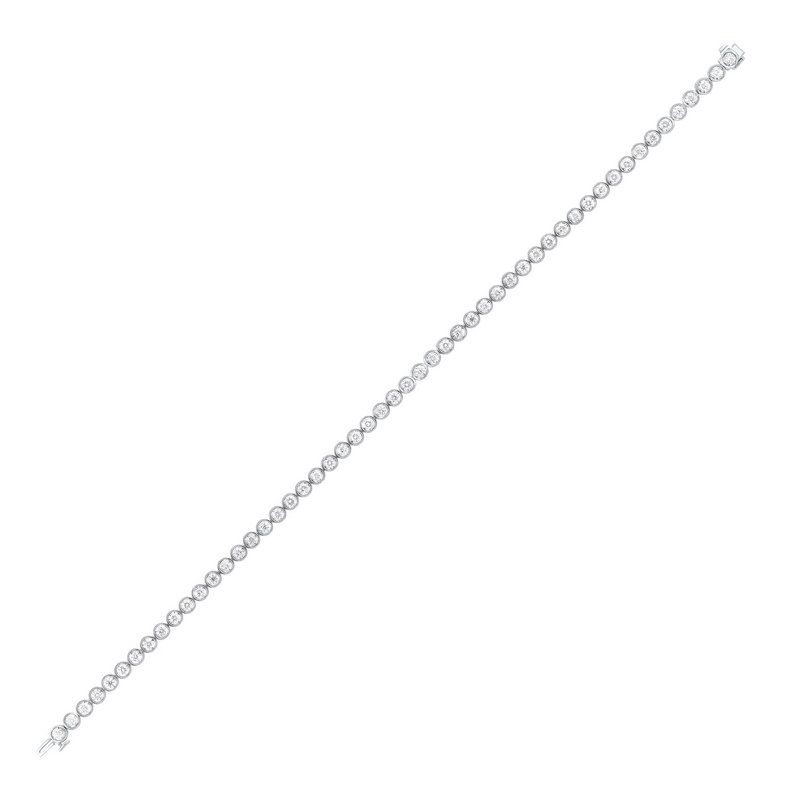 Gems One Tru Reflections Bezel Set Diamond Bracelet in 14K White Gold (1 ct. tw.)