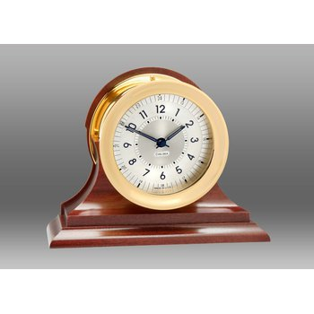 Polaris 12/24 Clock, Brass on Traditional Base