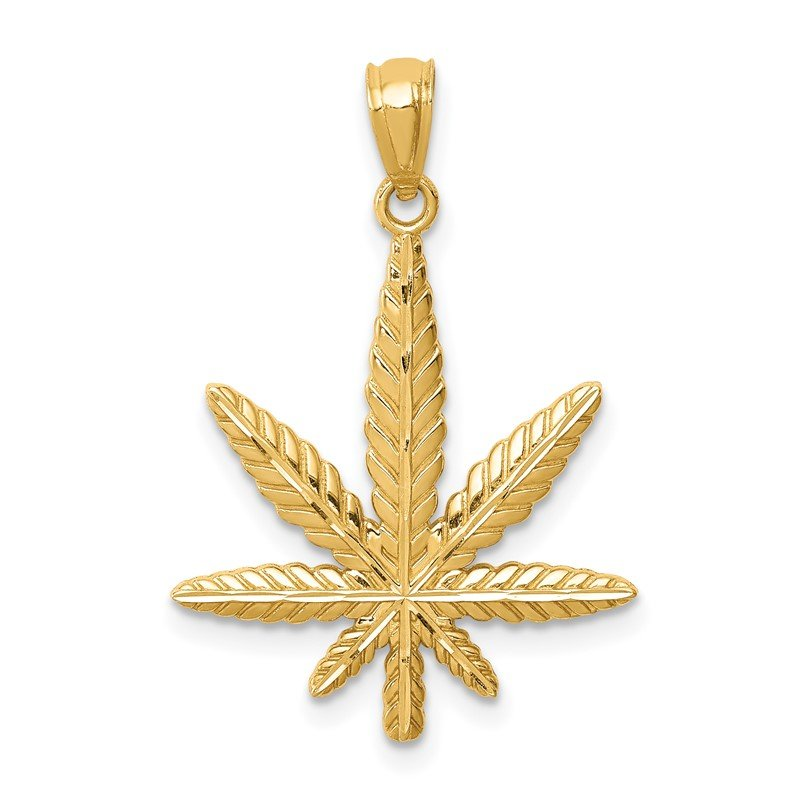 Quality Gold 14K Leaf Pendant