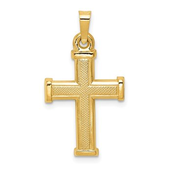 14k Hollow Latin Cross Pendant