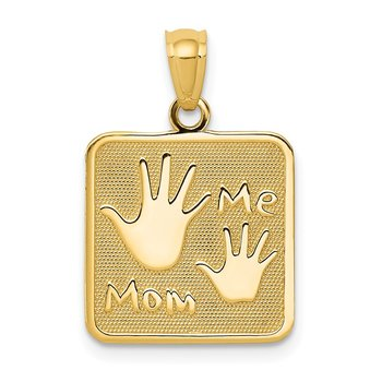 14k MOM and ME Hands Pendant