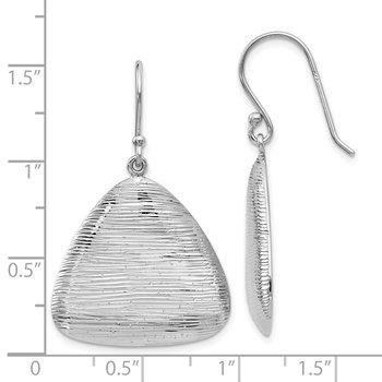 Leslie's Sterling Silver Radiant Essence Shepherd Hook Earrings