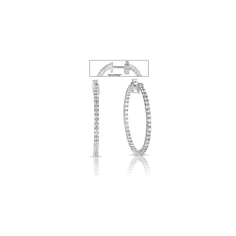 S. Kashi  & Sons 1.5 inch Securehinge Hoop Earring