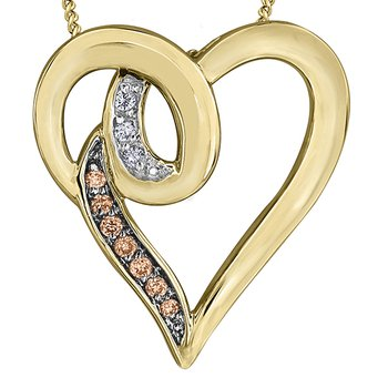 Nat Brown Diamond Pendant