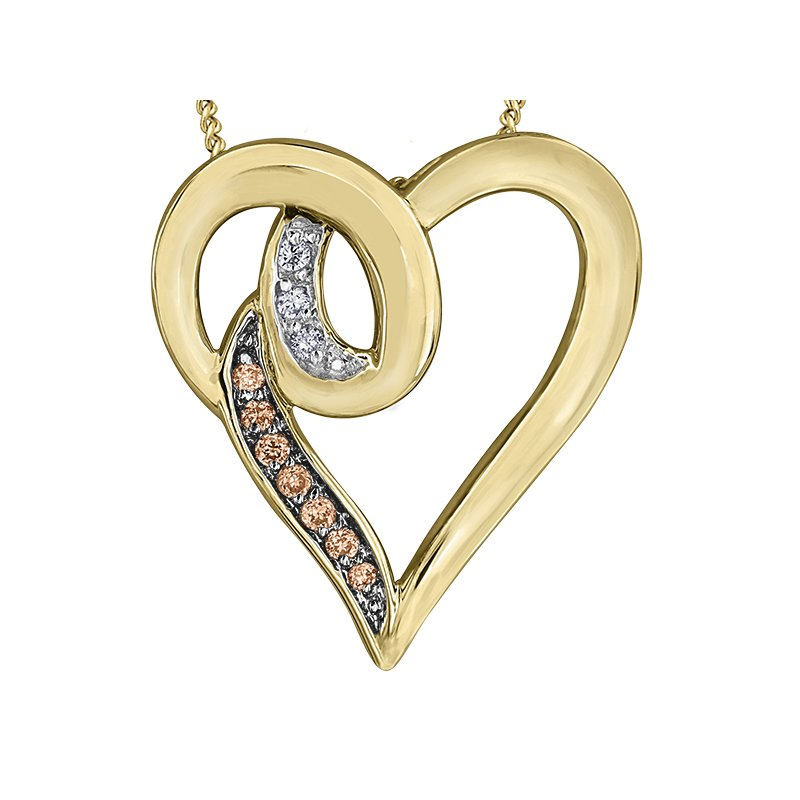 Timeless Beauty Nat Brown Diamond Pendant