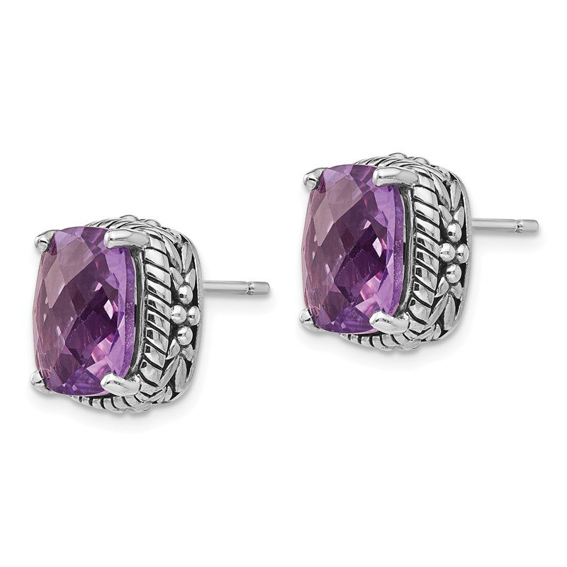 Shey Couture Sterling Silver Amethyst Earrings