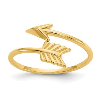 14K Polished Arrow Ring