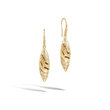 Lahar Marquise Drop Earring in 18K Gold with Gemstone