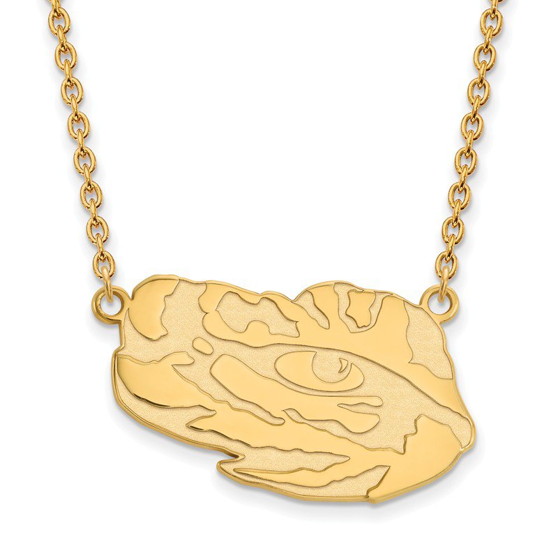 NCAA Gold-Plated Sterling Silver Louisiana State University NCAA Necklace