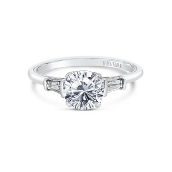 Three Stone Baguette Diamond Engagement Ring