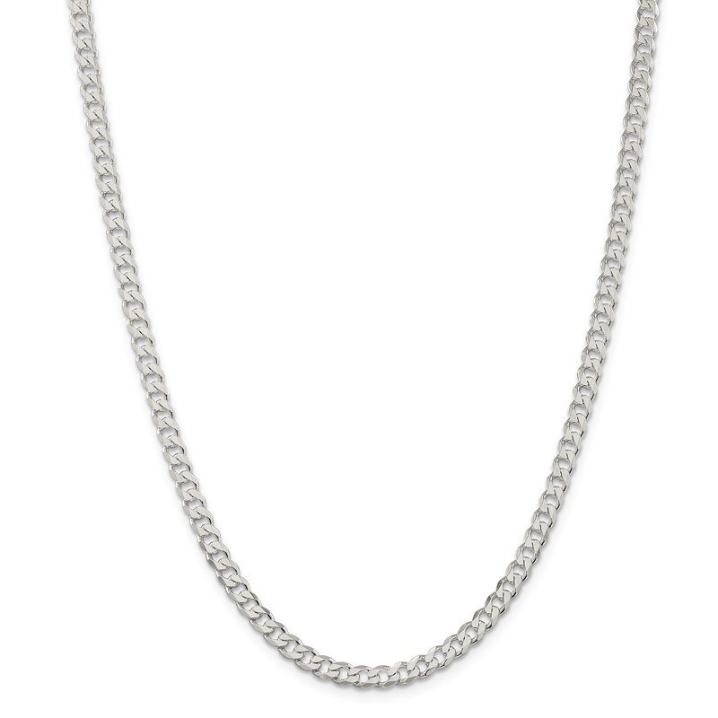 Quality Gold Sterling Silver 4.5mm Curb Chain