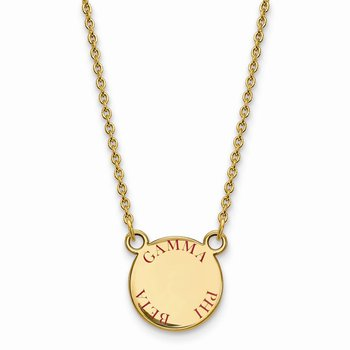 Gold-Plated Sterling Silver Gamma Phi Beta Greek Life Necklace