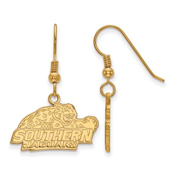 Gold-Plated Sterling Silver Southern University NCAA Earrings