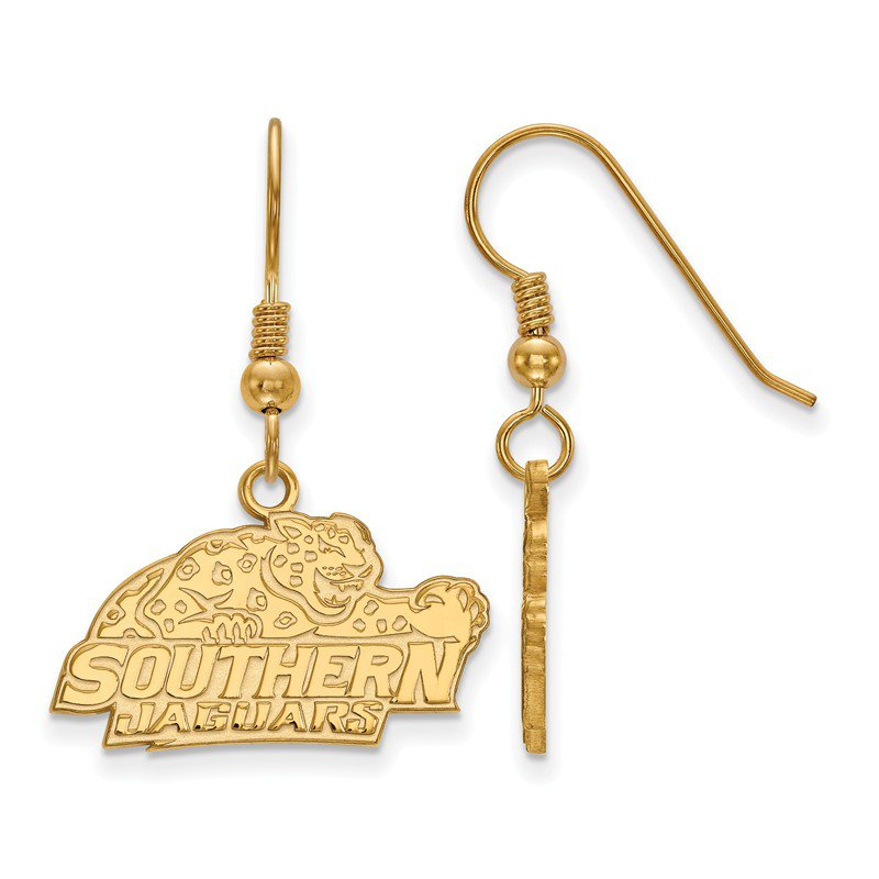 NCAA Gold-Plated Sterling Silver Southern University NCAA Earrings