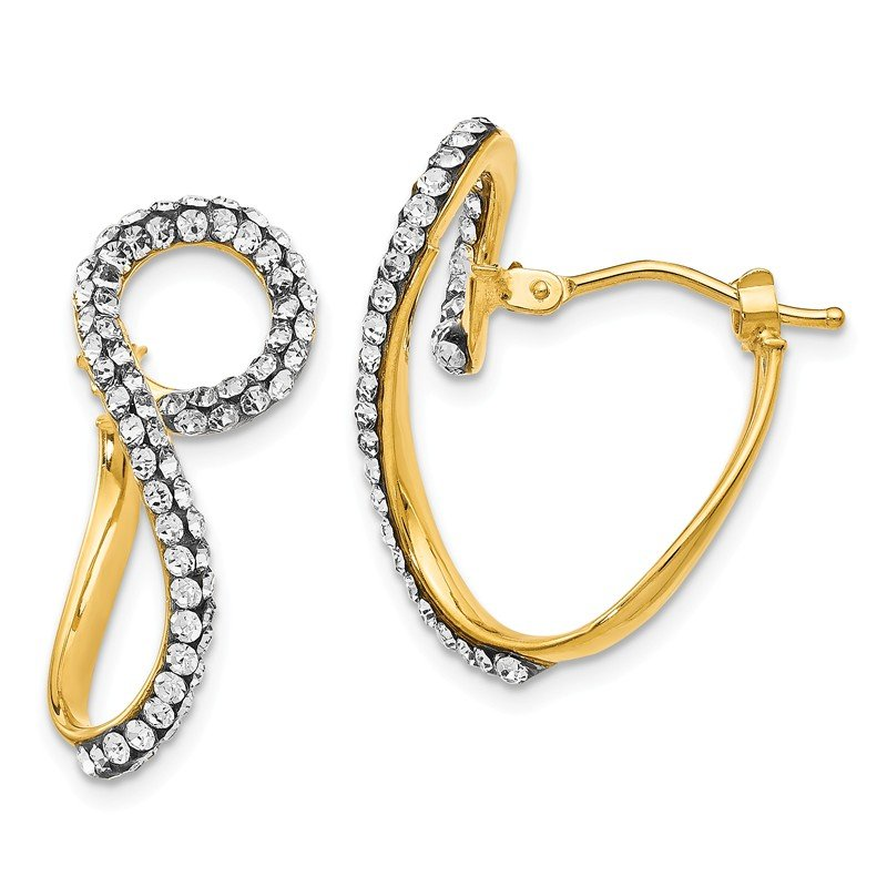 Leslie's Leslie's 14k swarovski elements Twisted Hoop Earrings