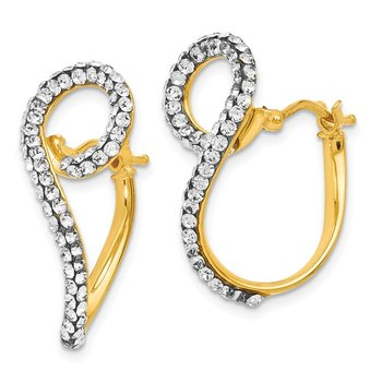 Leslie's 14k swarovski elements Twisted Hoop Earrings