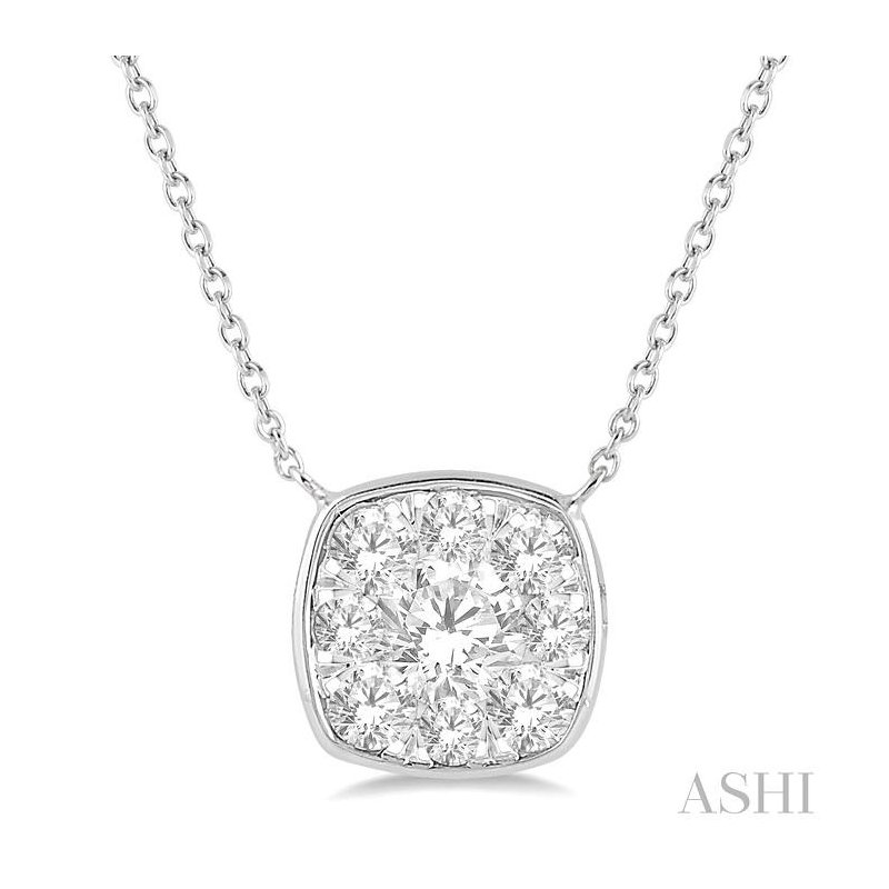 ASHI  lovebright essential diamond necklace