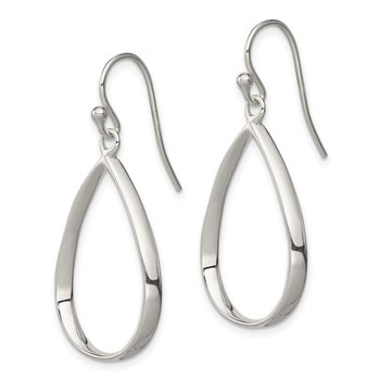 Sterling Silver Fancy Teardrop Earrings