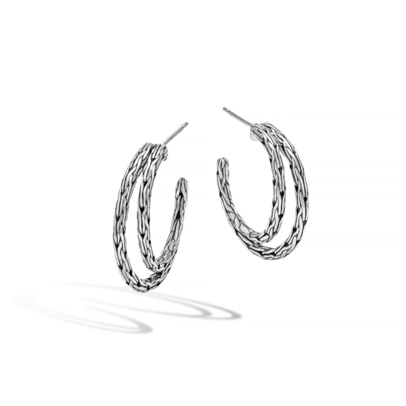 JOHN HARDY Classic Chain Small Hoop Earring in Silver