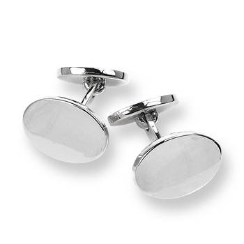 Sterling Silver Engraveable Elbow Cufflinks-