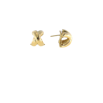 #26006 Of 18Kt Gold Small Crossover 'X' Earring