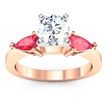 Classic Pear Shaped Ruby Engagement Ring