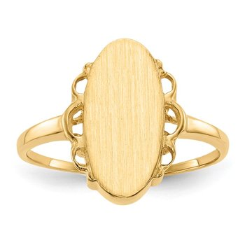 14k 14.5x7.0mm Open Back Signet Ring