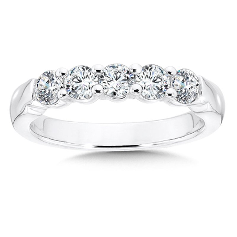 SDC Creations Prong set Round Diamond Wedding Band 14k White Gold (1/4ct. tw.)