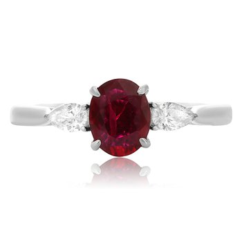 Three Stone Ruby Ring