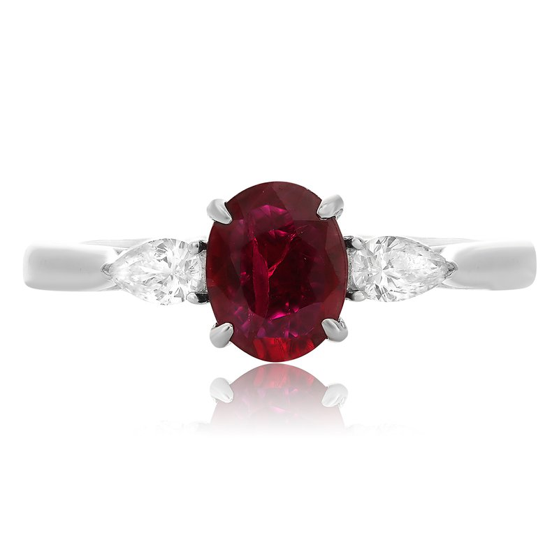 Roman & Jules Three Stone Ruby Ring