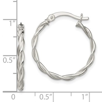 Sterling Silver Polished Braided Hoop Earrings