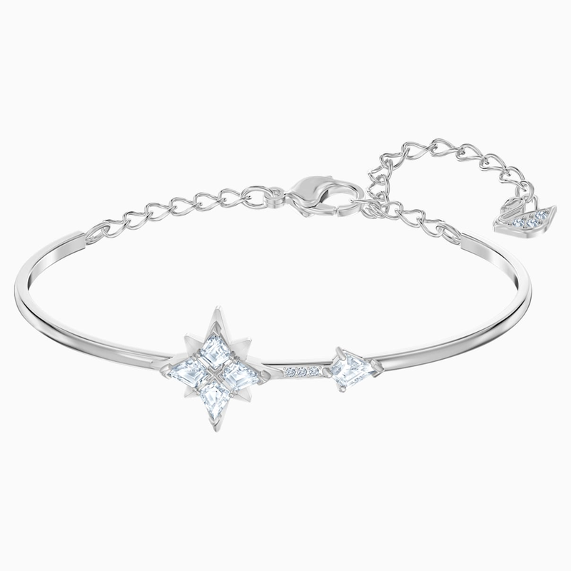 Swarovski Swarovski Symbolic Bangle, White, Rhodium plated