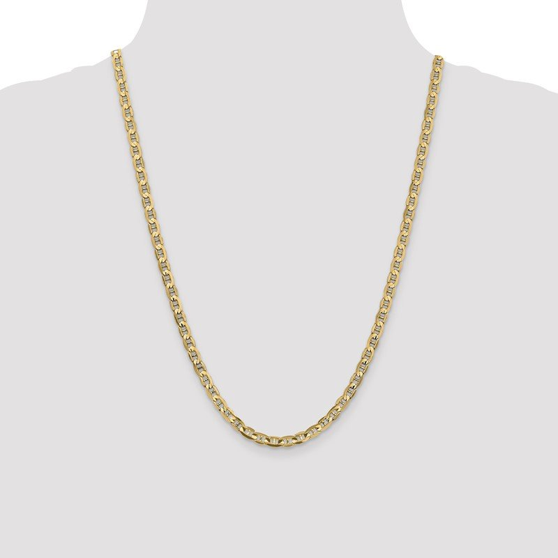 Quality Gold 10k 4.5mm Concave Anchor Chain