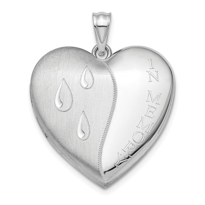 Quality Gold Sterling Silver Rhodium-plated 24mm Memory Ash Holder Heart Locket