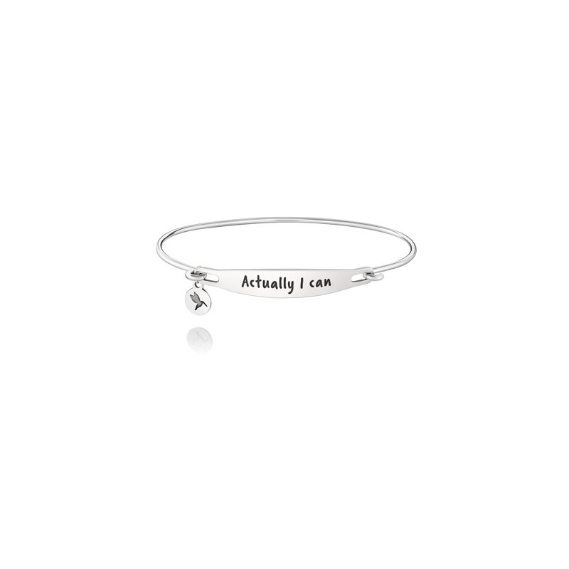 Chamilia ACTUALLY I CAN ID BANGLE - SS Lt Ox Finish, S/M