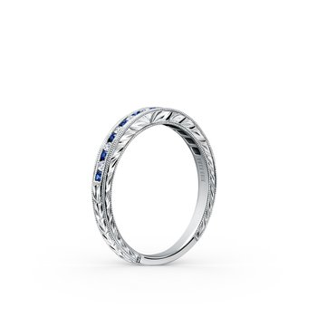Sapphire Classic Diamond Wedding Band