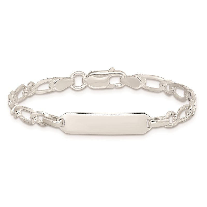 Quality Gold Sterling Silver Polished Engraveable Childrens ID Bracelet