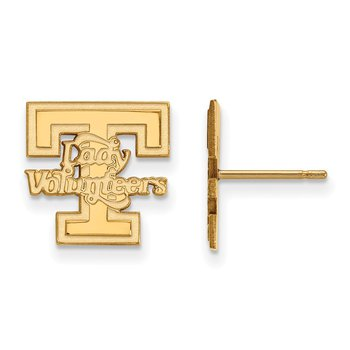 Gold-Plated Sterling Silver University of Tennessee NCAA Earrings