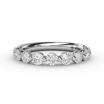 Diamond Band with Single Shared Prongs
