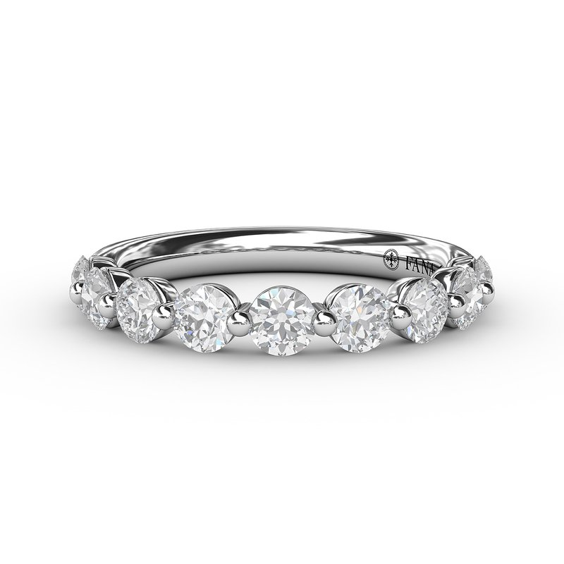 Fana Diamond Band with Single Shared Prongs