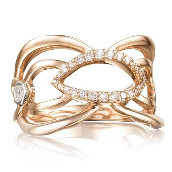 Crescent Trellis Ring