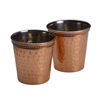 Set of Two Hammered Shot Glasses