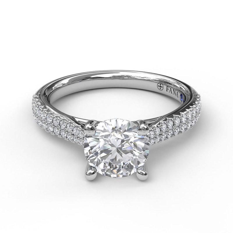 Fana Solitaire With Double Row Pave