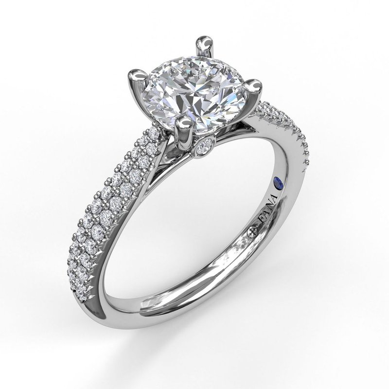 Solitaire With Double Row Pave