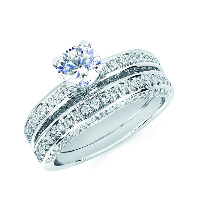 J.F. Kruse Signature Collection Ring RD CZ 0.50 RD CZ 0.75 STD